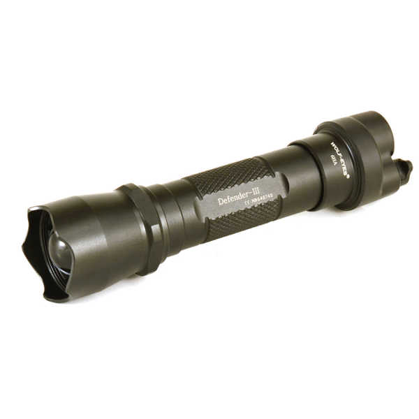 Wolf Eyes Defender III LED Hunting Torch Flashlight