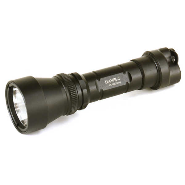 Wolf Eyes Hawk II LED hunting flashlight torch